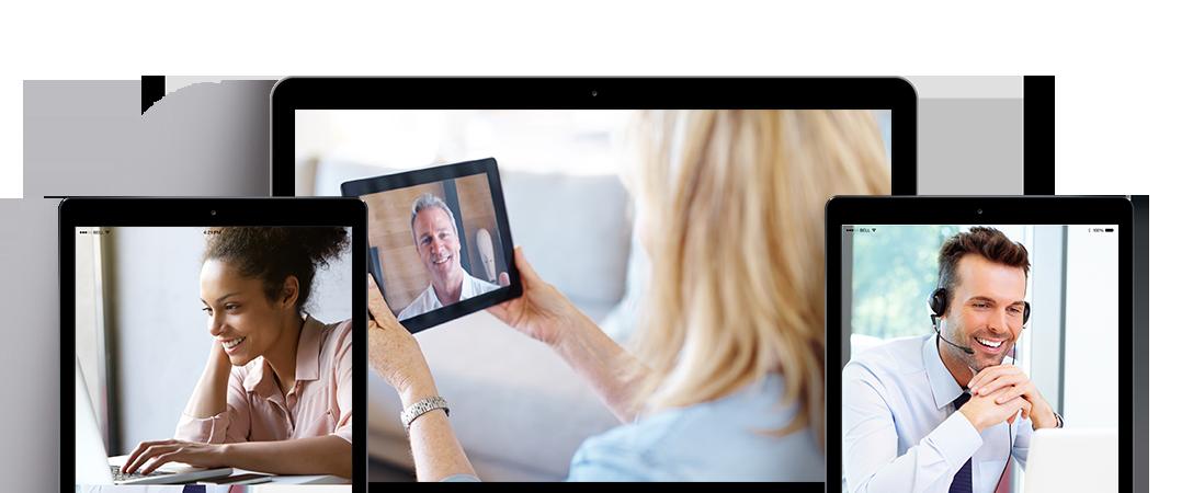 cadres et experts en séance de coaching via Skype - Hangouts